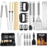 OlarHike BBQ Grill Accessories Set for Men Women, 29PCS Grilling Utensils Tools Set, Stainless Steel BBQ Gift Set with Spatul