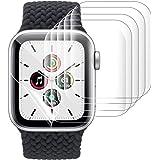 アップルウォッチ用 保護フィルム Apple Watch Series 5/4/3/2/1 42mm~44mm 99%高透過率 指紋防止 衝撃吸収 気泡防止 ラウンドエッジ加工