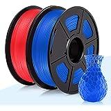 PLA Filament, 3D Warhorse 1.75mm 3D Printer Filament, PLA 3D Printing Filament 2 KG, 0.02mm,Blue+Red