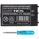 OSTENT 850mAh Rechargeable Lithium-ion Battery + Tool Pack Kit Compatible for Nintendo DS NDS