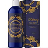 Pure Sensual Massage Oil Stress Reliever for Women and Men with Essential Oils Lavender Oil Rosemary Oil Jojoba Oil Sweet Alm