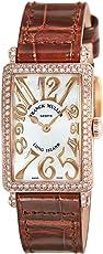 [フランクミュラー]FRANCK MULLER 腕時計 ロングアイランド ホワイトパール文字盤 ダイヤモンド 902QZRELD MOP BRW 5N レディース 【並行輸入品】