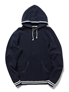 Lined Rib Pullover Sweat Parka 11-13-1740-103: Navy