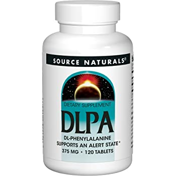 Source Naturals DLPA DL-Phenylalanine 375mg, Supports an Alert State, 120 Tablets by Source Naturals