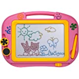 ikidsislands IKS88P [Travel Size] Color Magnetic Drawing Board for Kids & Toddlers - Non Toxic Mini Magna Sketch Doodle Educa