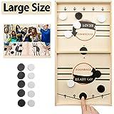 JANDANT Large Size Fast Sling Puck Game Slingshot Board Games for Adult and Kids Foosball Board Game Slingshot Table Hockey P