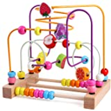 Lewo Bead Maze Wooden Baby Toddler Toys Roller Coaster Abacus Preschool Educational Toys Birthday Gifts for Toddlers Kids Boy