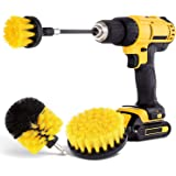 Drill Brush 4 Pack Power Scrubber Brush Cleaning Kit - All Purpose Drill Brush with Extend Attachment for Bathroom Surfaces,