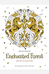 Enchanted Forest Artist's Edition: A Pull-Out and Frame Colouring Book Paperback