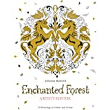 Enchanted Forest Artist's Edition:A Pull-Out and Frame Colouring: A Pull-Out and Frame Colouring Book
