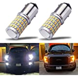 iBrightstar Newest Super Bright 1157 2057 2357 7528 BAY15D P21/5W Switchback LED Bulbs with Projector Replacement for Daytime