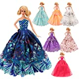 Barwa Doll Dress 5 Pcs Handmade Fashion Wedding Party Gown Dresses Clothes For 11.5 Inch Girl Doll