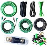 SoundBox Connected True 4 Gauge Amp Install Kit AWG Amplifier Wiring Complete Cable-Superflex 3500W Extra Long 20 Ft. Power W