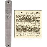 Talisman4U Waterproof Jewish MEZUZAH CASE with Scroll 3D Metal Painted Design Classic Israel Judaica Plastic Door Mezuza 5 In