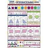 LearnEASY 小学生 1枚でわかる算数ポスター 3 図形を学ぼう! 平面図形の種類と公式 中学受験 プチバイリンガル 英語 公式 一覧【③】