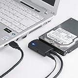 サンワサプライ SATA-USB3.0変換ケーブル HDD/SSD/光学式ドライブ ケーブル長0.8m USB-CVIDE3