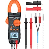 Proster Digital Clamp Meter Auto-Ranging Multimeter TRMS 6000 Counts with NCV AC/DC Voltage Current Continuity Capacitance Re