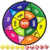 TaeMaJoy Sports Games for Kids, Dart Board for Kids with 10 Sticky Balls, Indoor Outdoor Best Toys Gifts for Girls Boys, 13.6