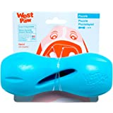 West Paw Zogoflex Qwizl Interactive Treat Dispensing Dog Puzzle Treat Toy for Dogs, 100% Guaranteed Tough, It Floats!, Made i