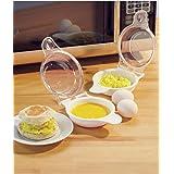 Trenton Gifts Microwave Egg Cooker/Poacher, Easy Scrambled Omelet Maker, Breakfast Cookware