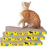 猫 つめとぎ ダンボール 3個セット 大きな猫と子猫が適 猫スクラッチ ねこ 爪とぎマット 爪やすり 爪とぎ 猫 強化猫爪研ぎダンボール 段ボール高密度 耐久 猫ソファー ウェーブタイプ 両面使える 省スペース 運動不足改善 家具破壊防止 ストレスと