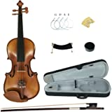 Kinglos YWA1005 4/4 Full Size Handcrafted Solid Wood Student Acoustic Violin Fiddle Starter Kit