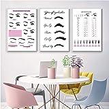 Beauty Salon Wall Art Decor Eyelash Extension Guide Posters Lash Extension Form Canvas Print Painting Decor Eyelash Technicia