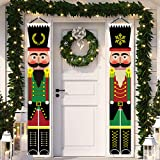 Yommida Nutcracker Banner for Christmas - Porch Sign Christmas Decorations Outdoor Indoor,Nutcracker Soldier Vertical Christm