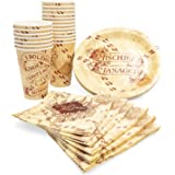 HARRY POTTER HP13265T Hogwarts Paper Party Pack Set, Cups, Plates and Napkins, 60-Piece, Multicolored