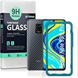 Ibywind Screen Protector for Redmi Note 9S/Redmi Note 9 Pro[Pack of 2] with Camera Lens Protector,Back Carbon Fiber Skin Prot