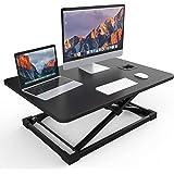 NATRKE スタンディングデスク 高さ調整可能 昇降式デスク ラップデスク ノートPCパソコンテーブル オフィスワークテーブル 机上デスク