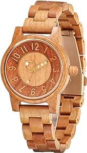 木製腕時計 レディース,shifenmei S5557 軽量 天然木 レディース 腕時計 木製 時計 レディース 木箱の包装 誕生日に お贈り物 女性用 (レディース,03)
