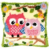 13 Model Latch Hook Kits for DIY Throw Pillow Cover Sofa Cushion Cover Owl/Dog/Cat/Bear/Bird with Pattern Printed 16X16 inch