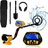 Metal Detector for Adults Professional Adjustable Waterproof Metal Detectors with High Accuracy, Pinpoint & Audio Prompts & D