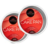 """Last Confection 2-Piece Round Cake Pan Set - 6"""" x 2"""" Deep Aluminum Pans"""