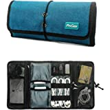 ProCase Roll-up Electronics Organizer, Universal Accessories Travel Case, Cable Management Carry Bag, Healthcare Kit Travel K