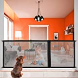 Portable Folding Mesh Retractable Gate for Babies Pet Dog Fence Gate The Ingenious Zipper Mesh Pet Gate Safety Stair Gate for
