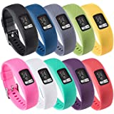 QGHXO Band for Garmin Vivofit 4, Soft Silicone Watch Band Strap for Garmin Vivofit 4 Activity Tracker, Small, Large, Ten Colo
