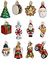 Old World Christmas Ornaments: Mini Christmas Set Glass Blown Ornaments for Christmas Tree