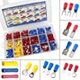 300 PCS Insulated Wire Electrical Connectors Assortment - Butt, Ring, Spade, Quick Disconnect - Crimp Marine Automotive Cable