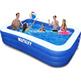 """Inflatable Pool, MADAXY Swimming Pool for Kids and Adults, 120"""" X 72"""" X 22"""" Oversized Thickened Family Inflatable Pool for Ki"""