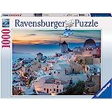 Ravensburger Santorini Cinque Terre Puzzle 1000pc,Adult Puzzles