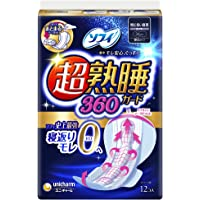 ソフィ 超熟睡ガード 360 12枚(くるっとテープつき)〔生理用ナプキン 夜用〕