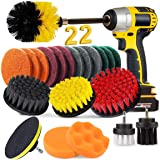BRITOR 22 Piece Drill Brush Attachment Set, Power Scrubber Drill Brush set, Scrub Brush With Extend Long Attachment, Drill Br