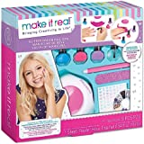 Make It Real - Glitter Dream Nail Spa - Nail Art Kit for Kids with Nail Polish, Nail Dryer, Stickers - DIY Manicure & Pedicur