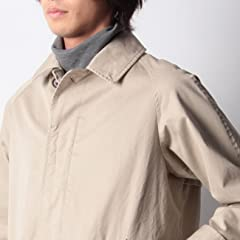 Gabardine Balmacaan Coat F44-96201: Natural