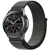 【Amazon限定ブランド】XIHAMA For スマートウォッチ Huawei Watch 2 編みナイロン 20MM バンド 替えベルト Samsung Gear S2 Classic vivoactive3にも対応 ルクロ設計 (オリーブグリー