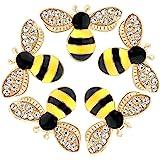 20 Pcs Enamel Bee Charms Pendants Rhinestone Enamel Craft Embellishments Crafting for DIY Handmade Crafts