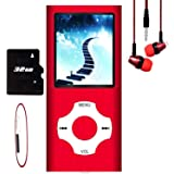 MP3 Player / MP4 Player, Hotechs MP3 Music Player with 32GB Memory SD Card Slim Classic Digital LCD 1.82'' Screen Mini USB Po