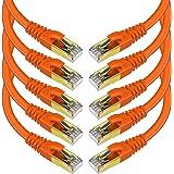 KASIMO lanケーブル CAT8 カテゴリ8 超高速 ギガビット 40Gbps 2000MHz RJ45 26AWG SFTP ツメ折れ防止 イーサネットケーブル 光回線 高速 有線lanケーブル wi-fiケーブル ルータ モデム パソコン